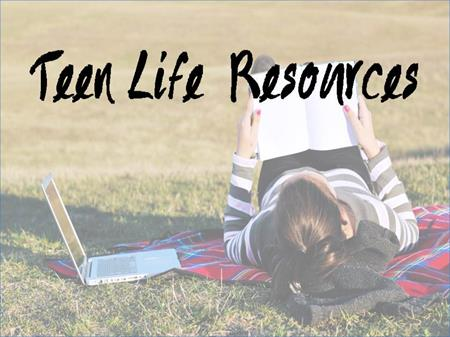 Teen Resources link button