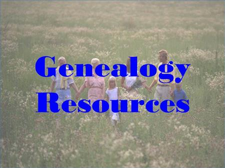 Genealogy Services link button