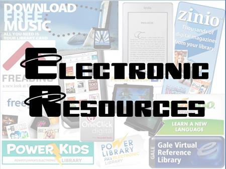 Electronic Resources link button